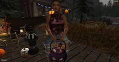 [P]:-Monilan Top Halloween (♥Miss Lady Fifooo♥) Tags: top plastik halloween second life sl secondlife virtual maitreya bento genus sexy brunette