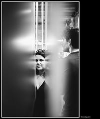 between (magicoda) Tags: italia italy magicoda foto fotografia venezia venice veneto bw persone people maggidavide davidemaggi passione passion voyeur candid bianco nero white black wife upskirt tourists donna woman long legs classic friends streetart nikon d750 dsrl reflex miniskirt 2018 ombre ombra shadow riflesso vetrina shop reflexion riflessi reflection biennale arsenale faccia face portrait ritratto tra between ragazza girl sorriso smile