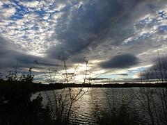 Clouds over the lake (Simply Sharon !) Tags: clouds sky lake silhouettes autumn october thryberghcountrypark