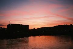 Friday light (knautia) Tags: cumberlandbasin floatingharbour bristol england uk october 2018 film ishootfilm olympus xa2 olympusxa2 fuji superia 400iso nxa2roll89 sunset harbour docks sky reflection
