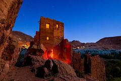 Rock the Kasbah (J C Mills Photography) Tags: morocco dades kasbah lightpainting longexposure moonlight landscape nightscape bluehour maroc