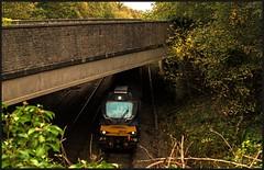 A 'bridge(d)' version! (peterdouglas1) Tags: valleyflasks directrailservices class68 6d43 northwalescoastrailway bridges