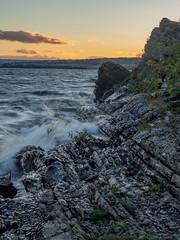 (Therese Østberg) Tags: waves bølger mjøsa domkirkeodden hamar norway norge nature natur vann water landscape landskap steiner rocks olympus høst sunset solnedgang