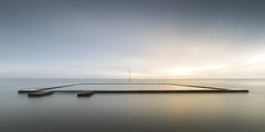 Viking Bay Tidal Pool sunrise (Nathan J Hammonds) Tags: sea coast kent viking bay broadstairs long expusure nd filter nikon d750 sunrise water silky smooth pool tidal beach summer simple minimal landscape seascape peaceful
