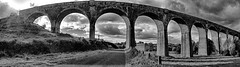 TASSAGH VIADUCT NEAR KEADY CO. ARMAGH IN BLACK AND WHITE PANO (Monkiiiey Henry Clark) Tags: tassagh viaduct near keady co armagh in black and white pano