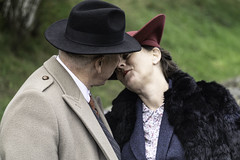 5 (paul wardropper photography) Tags: tanfield vintage 1940s singers cook kiss clothing black white old hats uniforms