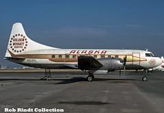 Alaska Airlines Convair 240 N51331 (planepixbyrob) Tags: alaska alaskaairlines convair convair240 n51331 lgb longbeach kodachrome retro