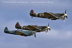 7452 Spitfires (photozone72) Tags: duxford iwmduxford warbirds wwii spitfire canon canon7dmk2 canon100400f4556lii 7dmk2 airshows aircraft airshow