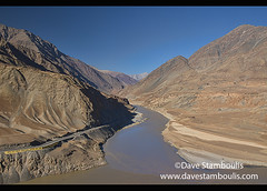 Confluence of the Zanskar and Indus rivers, Ladakh, India (jitenshaman) Tags: travel worldtravel destination destinations asia asian india indian ladakh ladakhi landscape landscapes mountain nature outdoors mountains ladakhrange panorama view vista river rivervalley valley indus indusriver indusrivervalley geology water winding flow flows flowing desert highdesert zanskar zanskarriver confluence zanskarrivervalley valleys waterway