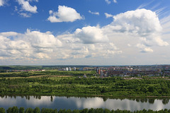 East end of Kemerovo city (man_from_siberia) Tags: kemerovo city siberia summer july sky clouds landscape scenery scenic cityscape