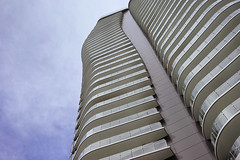 Balconies, repeat. (Eric Flexyourhead) Tags: vancouver canada britishcolumbia bc downtown crosstown pacificblvd pacificboulevard city urban building tower architecture sky blue soft sonyalphaa7 zeisssonnartfe35mmf28za zeiss 35mmf28