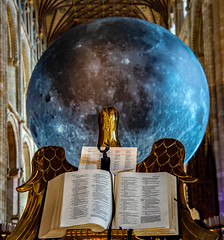 The Eagle is landing (uplandswolf) Tags: peterboroughcathedral peterborough cathedral moon eagle lecturn bible psalm cambridgeshire cambs