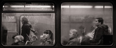 End of the Day (raymorgan4) Tags: commute sony sonya6000 a6000 lancaster bus passengers blackandwhite condensation murky moody