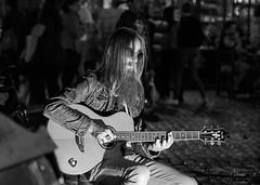 Guitar Hero (redheadzr) Tags: guitarist street black white