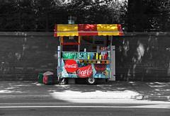 Hot Dog Stand (ziakhalid8) Tags: vibrant colour love life prespective excitement blackandwhite world city street beauty free streetphotography photography canon sony nikon toronto the6ix exploretoronto hotdog hotdogstand cocacola streetfood foodporn hotdogcart storyofthestreet streetlife streetstorytelling addalittlecolourtoyourlife