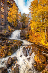 Akerselva River (davecurry8) Tags: oslo norway norge waterfall akerselva river