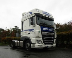 Karzol trans PUG-514 (Hungary) at Beaconsfield services (Joshhowells27) Tags: lorry daf xf dafxf hungary hungarian foreign foreigner pug514 karzoltrans