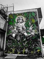 Green maiden (tonxyartigas) Tags: quilpue city wall street black green graffiti