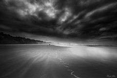 After Rain (Masako Metz) Tags: beach after rain clouds sky ocean sea water sand nature landscape seascape oregon coast pacific northwest usa blackandwhite monochrome