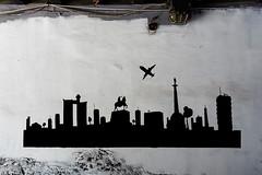 Belgrade Skyline Graffiti
