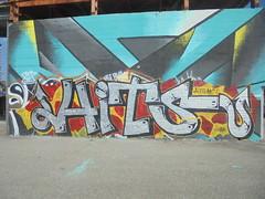 054 (en-ri) Tags: hits crew nacs nucleo antimateria giallo nero rosso arrow parco dora torino wall muro graffiti writing 2018