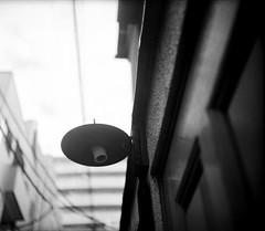 発射口 (a catapult) (Dinasty_Oomae) Tags: nationalgraflex ナショナルグラフレックス graflex グラフレックス 白黒写真 白黒 monochrome blackandwhite blackwhite bw outdoor 東京都 東京 tokyo 荒川区 arakawaku 西日暮里 nishinippori 街灯 streetlight