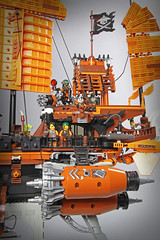 "Sky Pirates' Air Djunk ""Misfortune's Keep"" (Markus ""madstopper78"" Ronge) Tags: moc legosteampunk toyphotography fullsteamlego legopotsdam netbrix ninjago skypirates skybound nadakhan steampunk steampunklego airship djunk lego afol legofan"