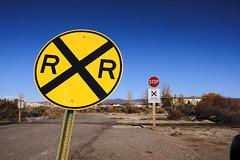 Railroad Crossing (Chuckcars) Tags: colorado monttrosecounty montrose train engine up unionpacific