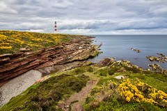 Tarbat Neiss lighthouse [Scotland] (Vins 64) Tags: scotland lighthouse phare tarbatneiss cloudy