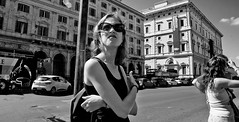 Shooting stars around your heart Dreams come bouncing in your head Pure and simple every time...... (Baz 120) Tags: candid candidstreet candidportrait city contrast street streetphotography streetportrait strangers sony a7 rome roma europe women monochrome monotone mono noiretblanc bw blackandwhite urban life portrait people italy italia grittystreetphotography faces decisivemoment