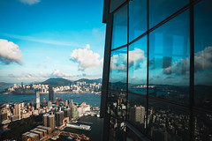Hong Kong skyline view from Sky 100 observation deck, Hong Kong China (Patrick Foto ;)) Tags: 100 architecture asia beautiful building built business centre china city cityscape cloud commerce copyspace day district downtown exterior famous finance financial harbor harbour high hong international island kong kowloon landmark landscape life office peak place scene sea ship sky sky100 skyline skyscraper structure tall tourism tower travel urban victoria view hongkong hk