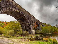 Old Viaduct - Stroan Loch (stevef16G) Tags: landscape viaduct loch scotland stone water architecture dumfries olympus outdoor outdoorphotography old