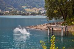 Lake Walen – Splash (Thomas Mülchi) Tags: walensee lakewalen lakewalenstadt cantonofstgallen switzerland 2018 lake mols diver diving splash ch