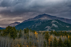 Winter's Coming (RkyMtnGrl) Tags: landscape nature scenery vista mountains clouds dusting trees aspens conifers peaks mtmeeker rockymountains allenspark colorado 2018 autumn fall nikon 28300mm