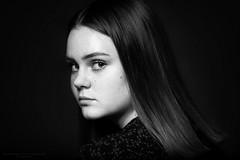 Isa XIII (Passie13(Ines van Megen-Thijssen)) Tags: isa sturdioshoot girl portrait portret canon netherlands blackandwhite bw sw zw zwartwit monochroom monochrome monochrom inesvanmegen inesvanmegenthijssen bestportraitsaoi elitegalleryaoi