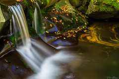water play (Plamen Troshev) Tags: reflection waterfall sunrise sun sunset river leafs adventure autumn amazing abstract new explore
