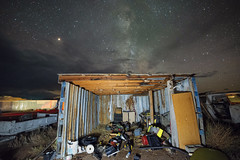 Star Shed (magnetic_red) Tags: shed shack building decay junk junkyard sky night milkyway stars clouds nevada rural
