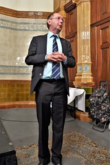 John Morewood proposes a vote of thanks to Michael Crumplin (photo by Roger Johnson)