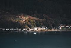 Houses on the Holy Loch - Oct 2018 (GOR44Photographic@Gmail.com) Tags: house houses holy loch hills trees argyll cowal kilmun sunlight shadows scotland gor44 boat water reflection panasonic g9 45200mmf456 glenkin sandbank dunoon