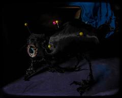 42. worship (emifly) Tags: bird doll voodoo crow eye selfie selfportrait pins worship