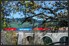 "Blue Surprise ("" Wiener Schule "") Tags: öbb oebb obb austria semmering semmeringbahn breitenstein eisenbahn railway railroad kyoto 1016 1116 1016023 ghega adlitzgraben viadukt adlitzgrabenviadukt viaduct"