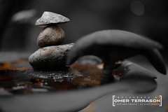 Birdbath - 61 (oterrason) Tags: birdbath garden yard frontyard lawn stones rocks balancing rockbalancing stonebalancing monochromatic artistic voigtlander vm fuji fujifilm xe3 fujifilmxe3 colorskopar35mmf25pii mmountadapter macroextensiontube