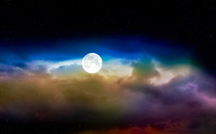 The moon and clouds ... (Julie Greg) Tags: colours clouds moon nature sky texture lunar cloud photography skyphotography