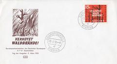 Briefmarken der Deutschen Bundespost Saarland (micky the pixel) Tags: briefmarke stamp ephemera bundesrepublik deutschland bundespost saarland ersttagsbrief firstdaycover fdc