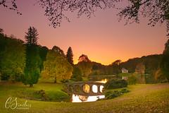Sundown at Stourhead (C Sinclair) Tags: stourhead wiltshire nationaltrust autumn autumncolours stourheadsunset pantheon bridge trees lake