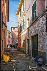 after the storm ... ( 2 ) (miriam ulivi) Tags: miriamulivi nikond7200 italia liguria sestrilevante baiadelsilenzio mareggiatadel29ottobre carruggio seastormof29october alley