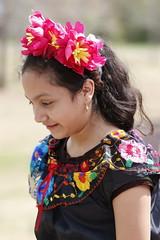 Sandratita Duennas, 7, dances in Robinson Park. Duennas and her mother both dance in Abila's group.
