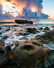 Storm Filled Sunrise (J.Coffman Photography) Tags: water florida united states clouds nikon d810 sunshine fl state sky sea ocean sunrise rocks waves rock wave beach