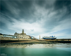 __/\__I_[]___ (Kevin HARWIN) Tags: boat sea water building clock tower sky long exposure ramsgate south east kent uk england britain canon eox m3 sigma 1020mm lens