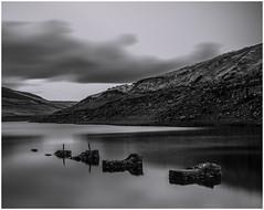 Silver lake (nathian brook) Tags: longexposure reservoir waterscape landscape blackandwhite monochrome